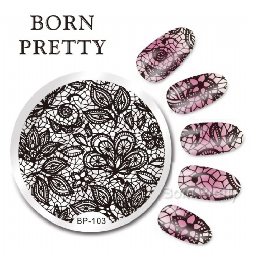Born Pretty Plate # BP-103